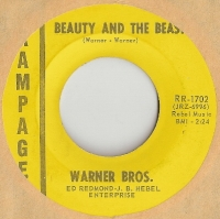 "Warner Bros. - Beauty And The Beast/ Cry Baby, original U.S. 7"" single release on Rampage Records RR-1702"