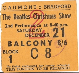 Beatles, The - Christmas Show Concert Ticket 1964