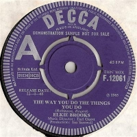 Brooks, Elkie - The Way You Do Things You Do, Original 1965 UK Decca 'A' sided Demo