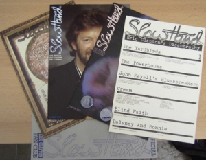 Clapton, Eric - [Official Fan Club] set of 7 items, which includes 2 x badges