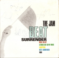 "Jam, The - Full set of autographs, signed on The Jams Beat Surrender double 7"" single sleeve"