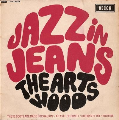 Artwoods, The - Jazz In Jeans, EP, Very rare original British 1966 release, c/w cover, Decca DFE 8654