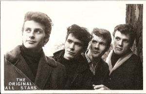 Beatles - The Pete Best Original All Stars Band - autographed promo picture, fully signed by all 4 band members