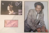 Berry, Chuck - signed autograph page by the Rock'n'Roll legend Chuck Berry, signed in the UK, in the early to mid 60's