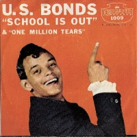 "Bonds, Gary U.S. - School Is Out/ One Million Tears, original US 7"" single, release on Legrand Records 1009 in 1961, c/w picture sleeve"