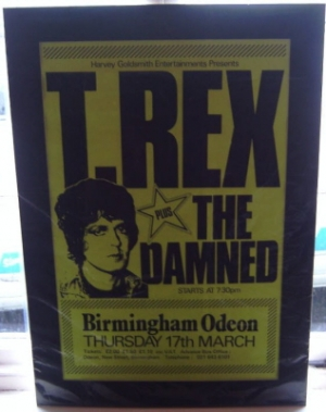 Bolan, Marc  - T Rex and The Damned Concert Poster 1977