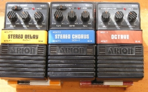 Instruments - Early 80's vintage model, Arion Stereo Delay SAD-1 guitar foot switch/pedal