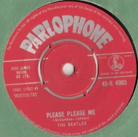 Beatles, The - Please Please Me/ Ask Me Why, [Parlophone Records 45-R 4983] original UK issue, 1st pressing with Red Label, 1963