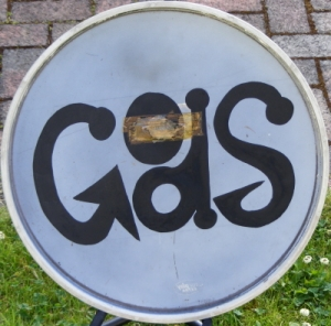 Gods, The - Original 60's bass drum skin and design